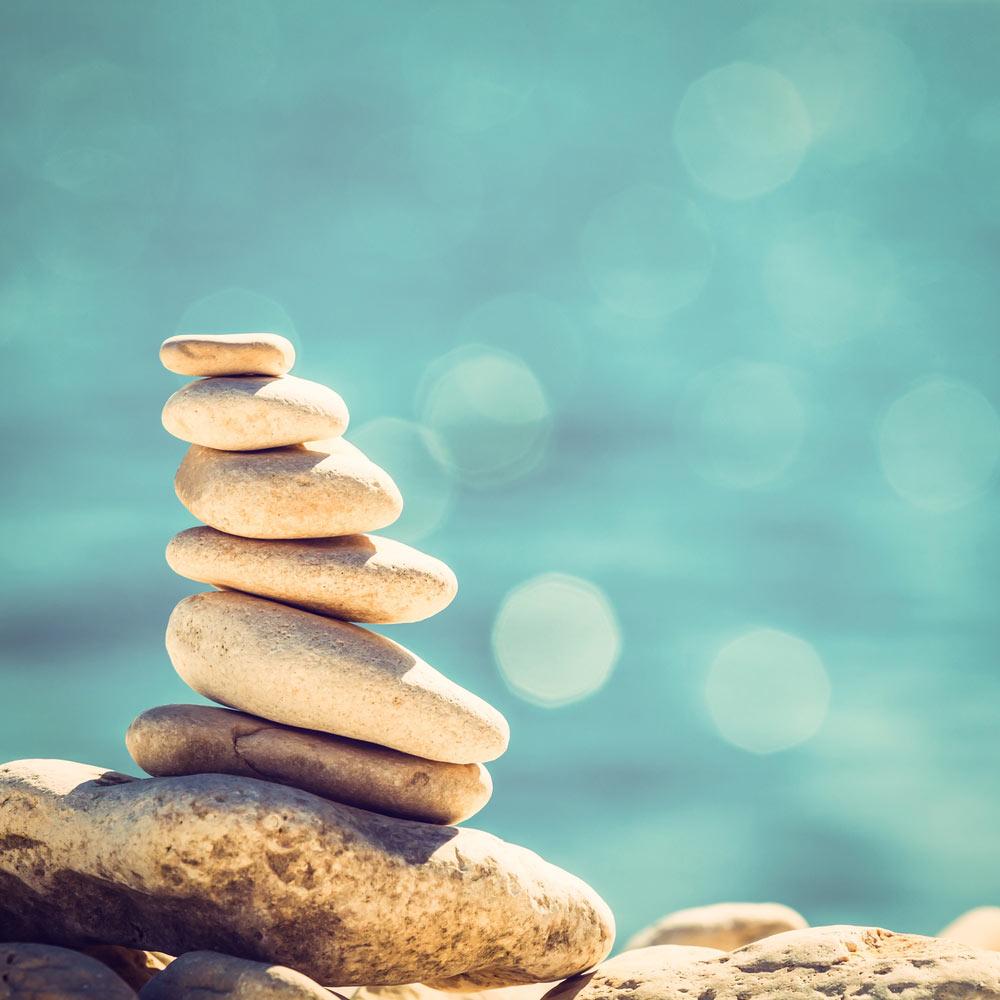 Stenen in balans